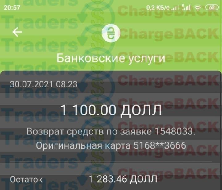 Вернуть деньги мошенник TradersHome.com